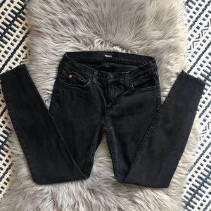 Hudson Krista Super Skinny Crop Ankle Black Jeans